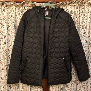Laundry Dark olive quilted coat